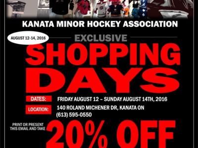 KMHA Shopping Weekend