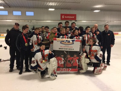 Blazers Minor Bantam B takes gold at the Capital Winter Classic